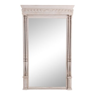 19th Century Belgian Oak Mirror For Sale