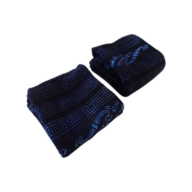 Indigo Mali Textiles - A Pair - Image 1 of 8