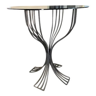 """Mid-Century 'Tulip' Chrome/Stainless """"High Top"""" Bistro Table For Sale"""