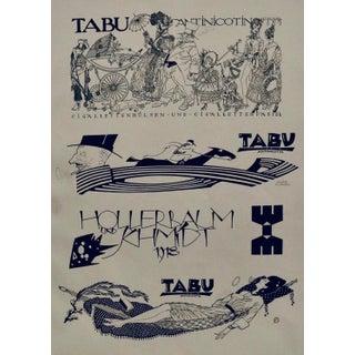 1923 Original German Poster, Doodle #2/Tabu (Horse/Rider) For Sale