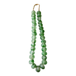 African Jumbo Glass Trading Beads Necklace For Sale