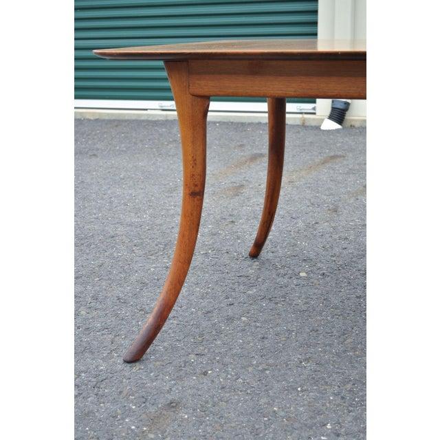 Vintage Mid Century Modern T H Robsjohn Gibbings Widdicomb Klismos Dining Table - Image 9 of 11