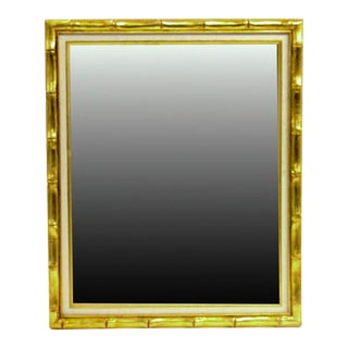 Bamboo Gilt Matted Mirror For Sale