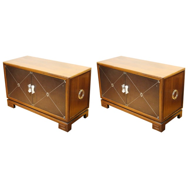 Grosfeld House Art Deco Mahogany Low Cabinets or Nightstands - a Pair For Sale - Image 13 of 13