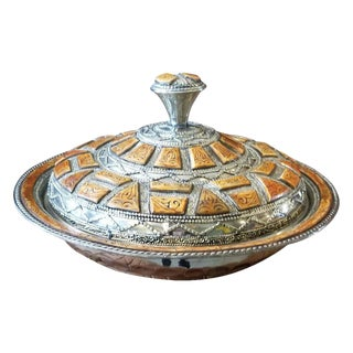 Moroccan Metal Tagine For Sale