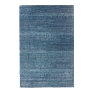 """One-of-a-Kind Contemporary Handmade Area Rug 6' 1"""" x 9' 1"""" For Sale"""