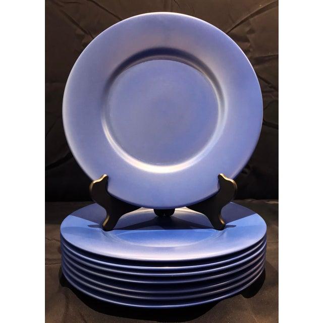 Gien France Blue Chargers - Set of 8 For Sale - Image 9 of 9
