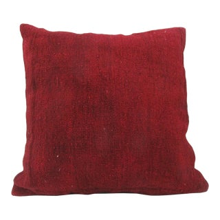 Vintage Turkish Kilim Red Pillow Cover For Sale