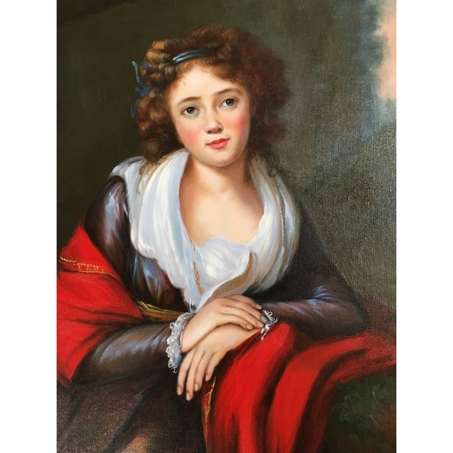 Vintage Oil Portrait of a Contessa For Sale In Washington DC - Image 6 of 11