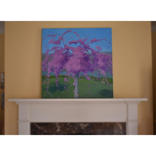 Weeping Cherry Tree Painting by Stephen Remick For Sale - Image 10 of 11