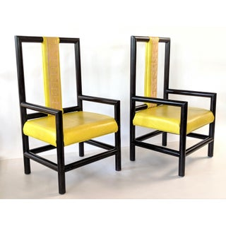 Vintage Viceroy Hotel High Back Asian Style Chairs - a Pair Preview