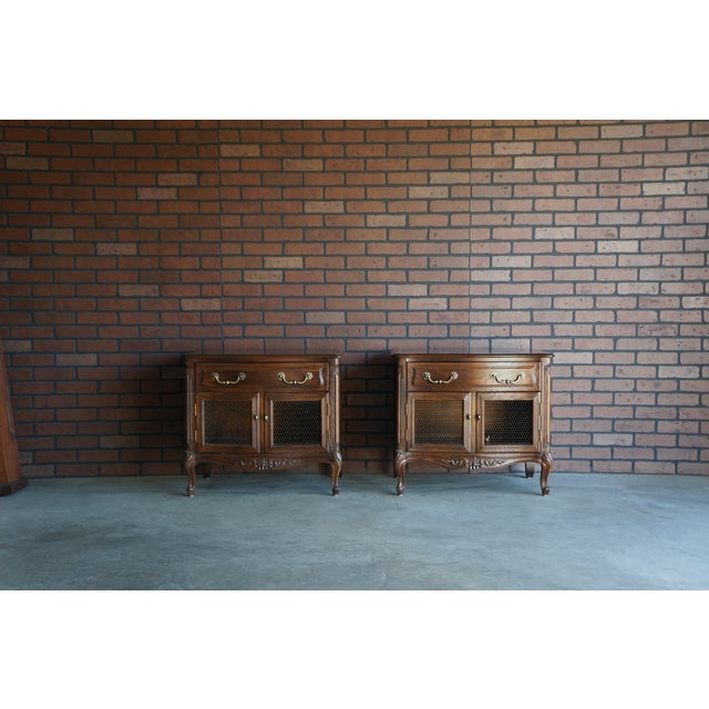 1980s French Provincial Nightstands - a Pair For Sale - Image 10 of 10