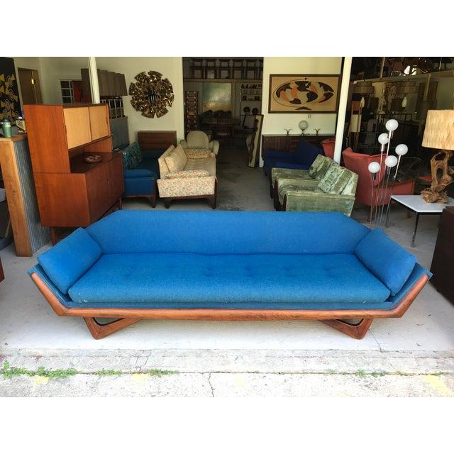 "Mid-Century Modern 101"" Adrian Pearsall Walnut Gondola Sofa Craft Associates For Sale - Image 3 of 13"