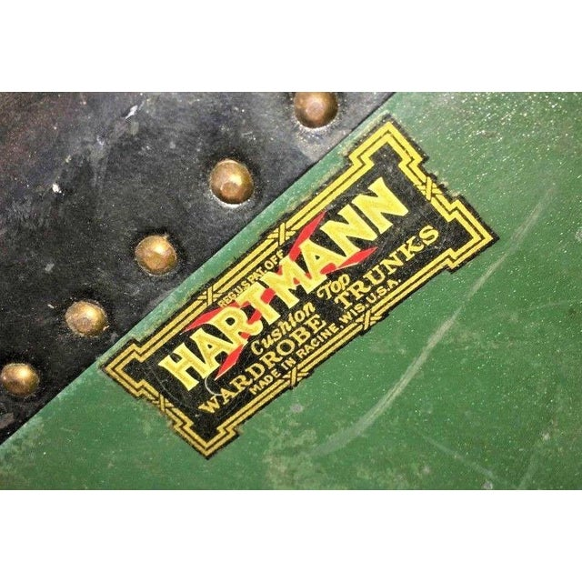 Traditional Antique Hartmann Wardrobe Steamer Luggage For Sale - Image 3 of 12