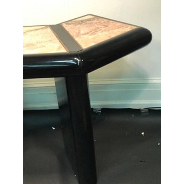 Bronze Beautiful Italian Marble Top Console Table For Sale - Image 7 of 9