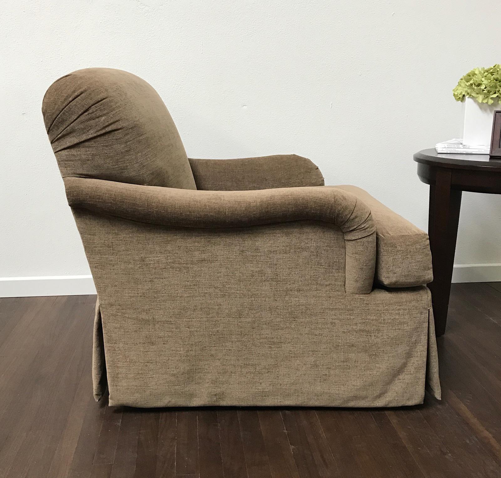 RJones RJones Martin Skirted Swivel Lounge Chair For Sale   Image 4 Of 8