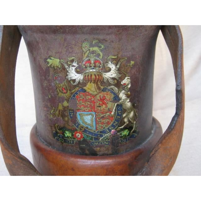 Lodge Vintage Leather Fire Bucket Lamp For Sale - Image 3 of 7