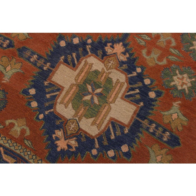 """1950s Antique Tribal Soumakh Sally Wool Rug - 6'7"""" X 9'2"""" For Sale - Image 4 of 9"""