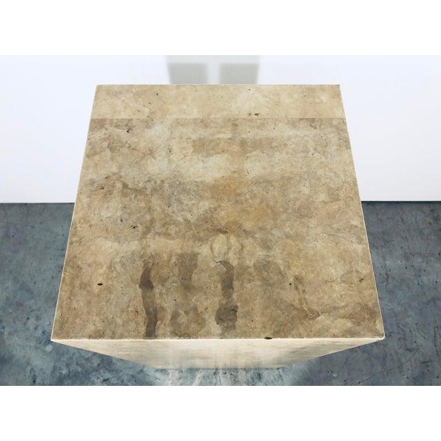 Karl Springer Style Decorative Parchment Display Pedestal For Sale - Image 11 of 13