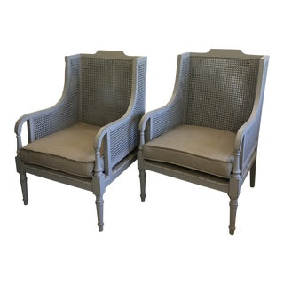 Cane Back Chairs - a Pair For Sale