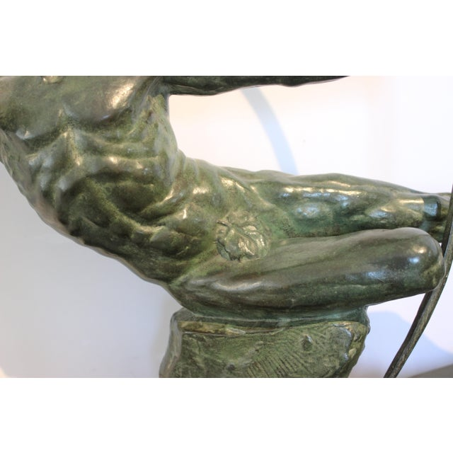 Art Deco Bronze Sculpture Hercules the Archer by Victor Demanet 1925 For Sale In West Palm - Image 6 of 13