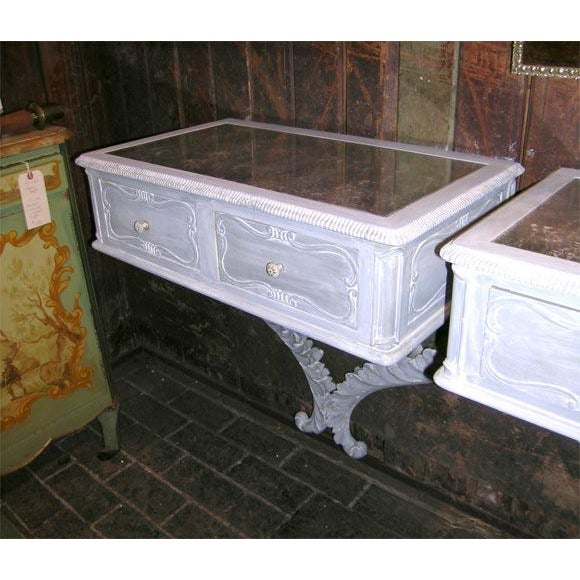 French 1940s Vintage Dorothy Draper Style Wall-Mounted Bedside Tables- a Pair For Sale - Image 3 of 9