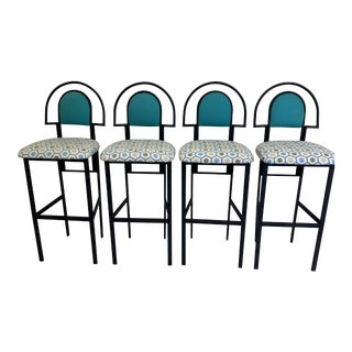 1980s Memphis Inspired Barstools - Set of 4 For Sale