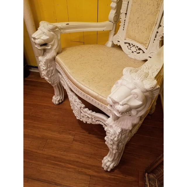 Giant lion Chair. Wonderful theatrical piece. Makes a statement. Instant power. Add a splash and drama to any room with...