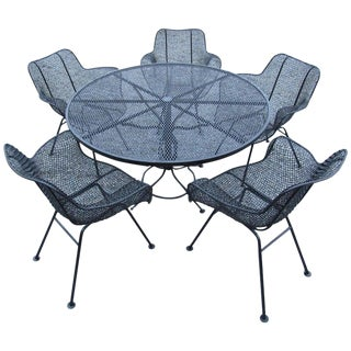 Midcentury Patio Dining Set by Russell Woodard For Sale