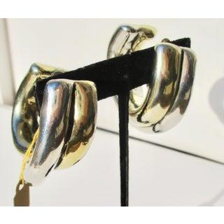 Large Criss-Cross Hoops in Sterling Silver Earrings Preview