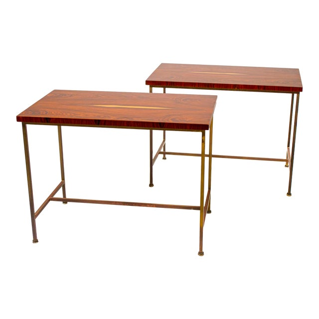 Book-Matched Rosewood Side Tables by Paul McCobb for Calvin For Sale