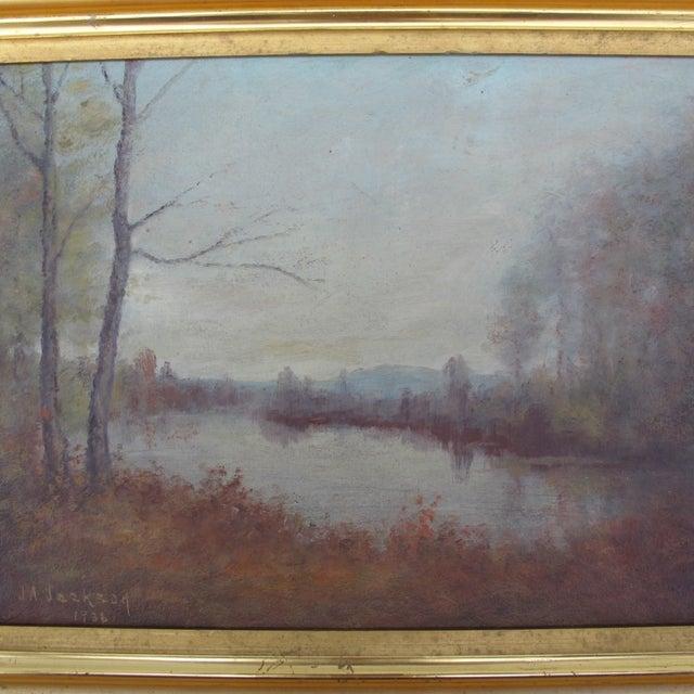 Vintage Impressionist Oil Painting 1936 - Image 5 of 6