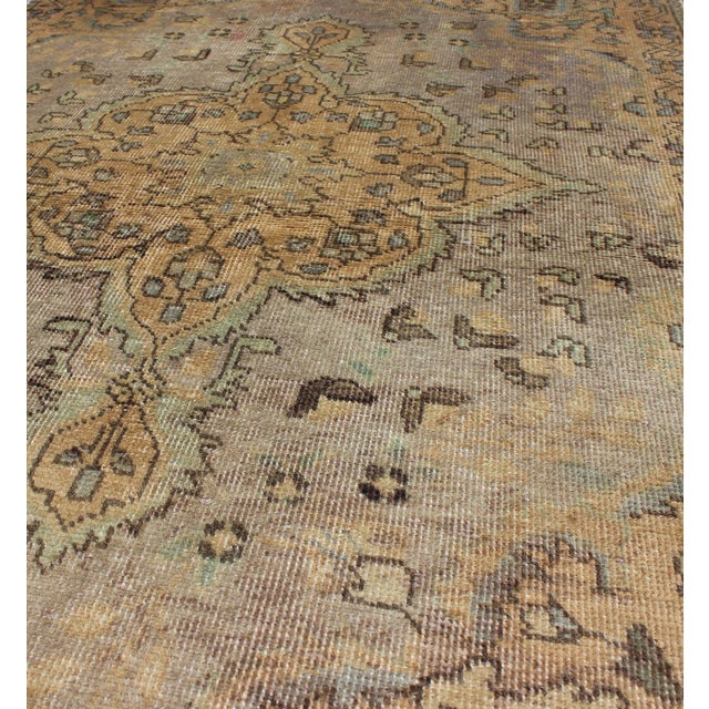 Mid 20th Century Semi Antique Tabriz Rug - 3′ × 4′9″ For Sale - Image 5 of 7
