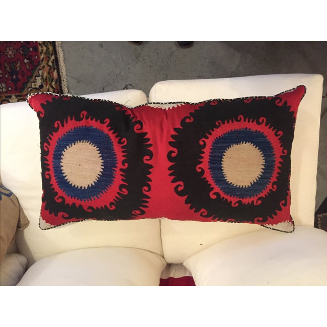 Handmade Silk Suzani Pillow - Image 2 of 5