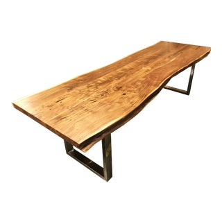 """111""""l Handcrafted Acacia Wood Live Edge Dining Office Table"""