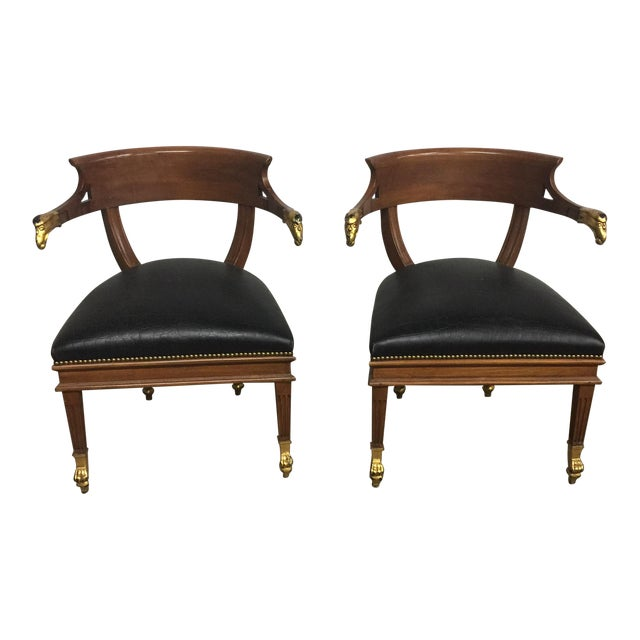 William Switzer Federalist Style Eagle Arm Armchairs - a Pair - Image 1 of 10