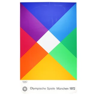 1972 Modern Serigraph for Olympics Munich by Max Bill