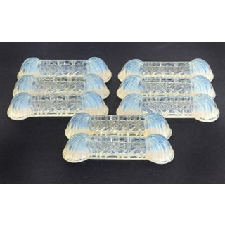 1940s Art Deco Verlys, France Opalescent Glass Knife Rests-Set of 8 Preview