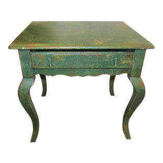 1990s Boho Chic Habersham One Drawer Side Plantation Table