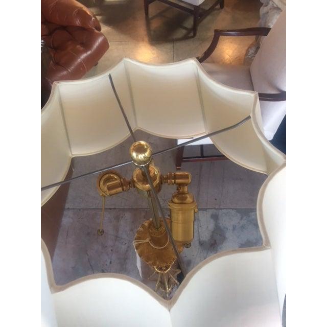Vintage Spanish Gilt Iron Floor Lamp For Sale - Image 9 of 10