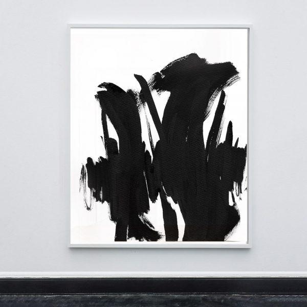This series of Abstract Black and White paintings take inspiration from Mid-Century Action Painters and Japanese brush...
