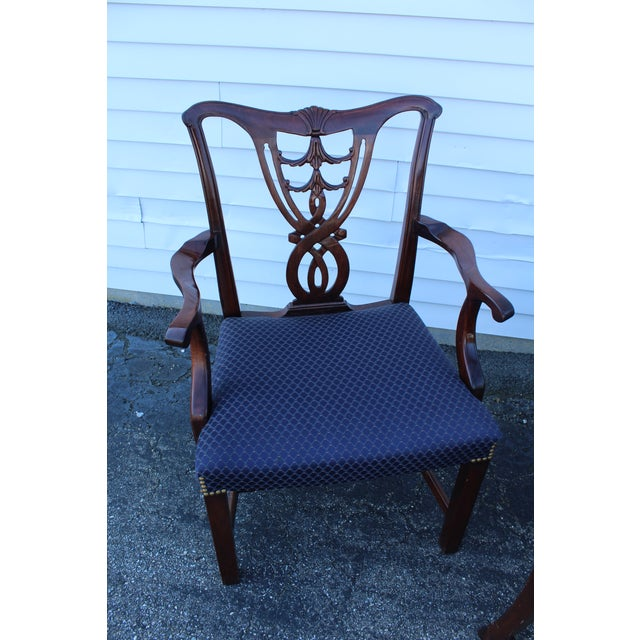 Vintage Mid Century Blue Dining Chairs- Set of 6 For Sale In New York - Image 6 of 11