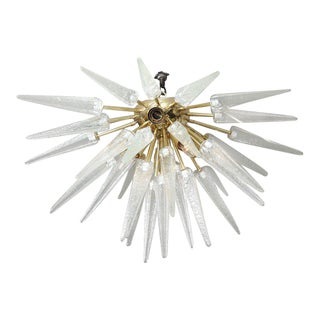 Murano Clear Spike Half Flush-Mount Sputnik For Sale