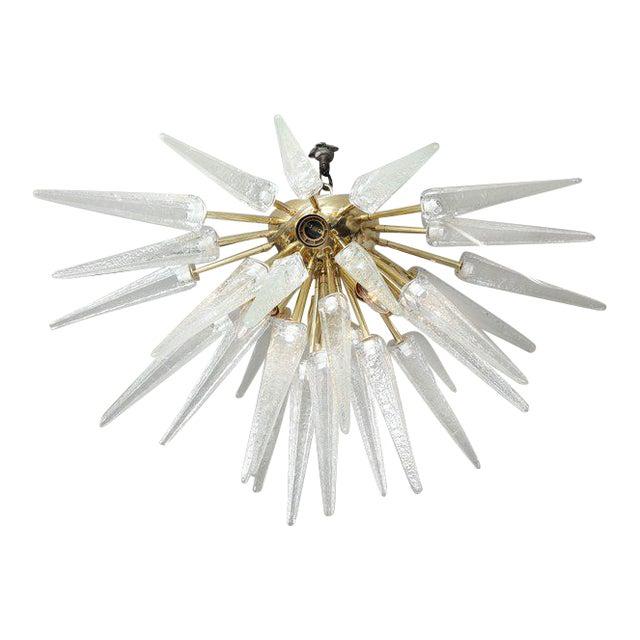 Murano Clear Spike Half Flush-Mount Sputnik For Sale