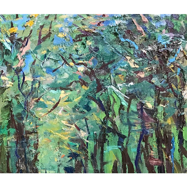 2020s It's a Jungle Out There Original Oil Painting by Nancy T. Van Ness, Framed For Sale - Image 5 of 9