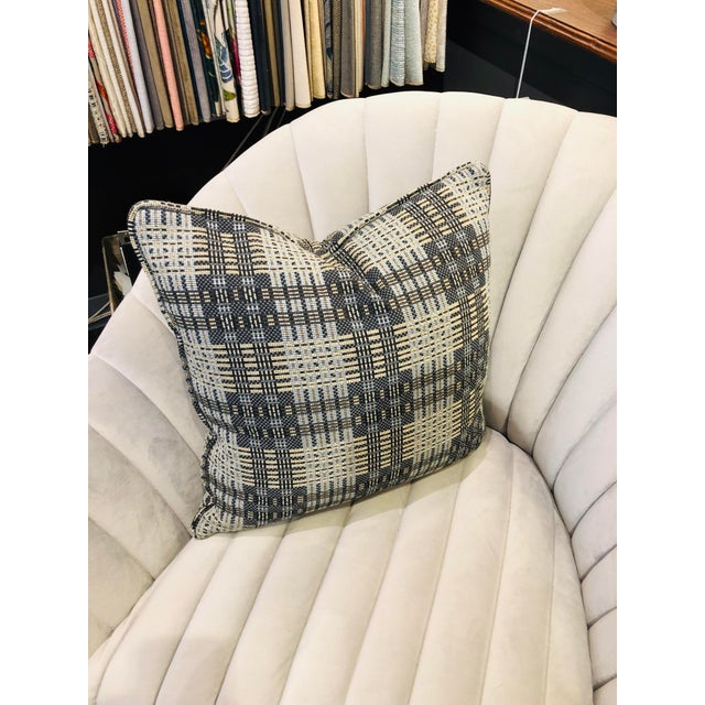 "A beautiful pair of 16"" square modern plaid pillows from Highland Court Fabrics. This large scaled modern plaid is the..."