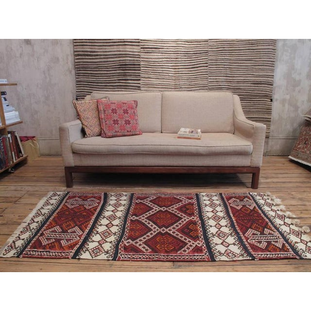 A small tribal flat-weave from Eastern Turkey woven in two distinct brocading techniques, creating a very interesting...