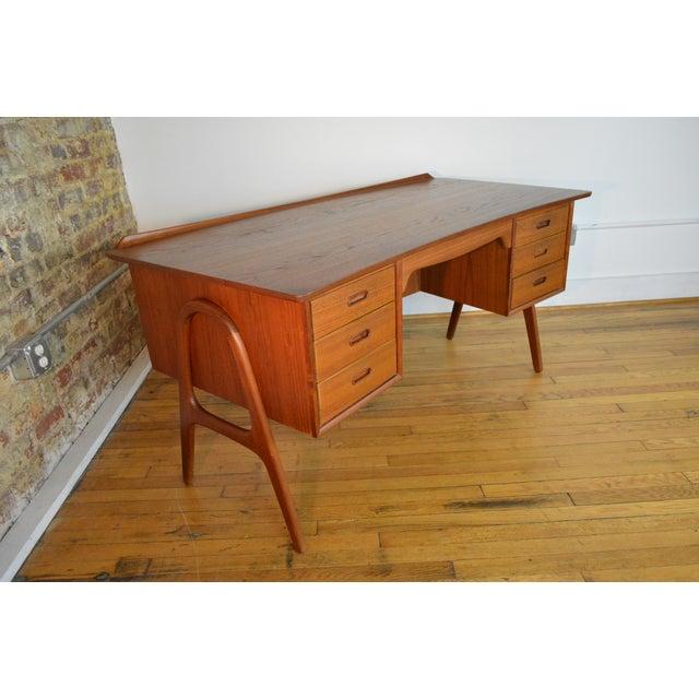 1960s Svend Madsen Model Sh 180 Danish Modern Teak Writing Desk For Sale - Image 5 of 10