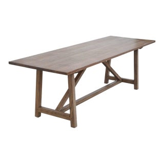 Petersen Antiques Rift White Oak Dining Table For Sale