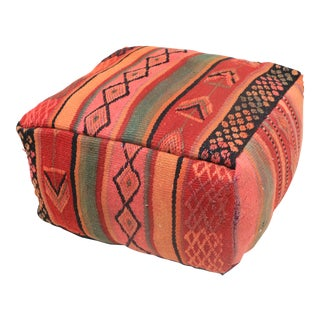 Moroccan Boujad Rug Pouf Cover For Sale